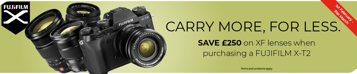 Fujifilm | SAVE £250 on XF Lenses