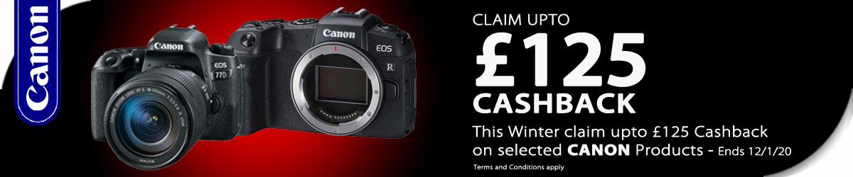Canon Winter 2020 Cashback Banner