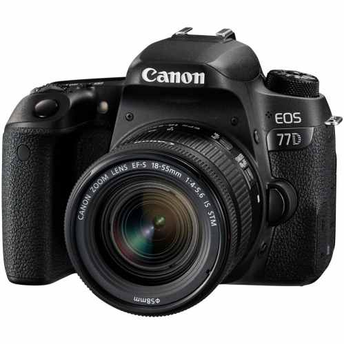 Canon EOS 77D DSLR with 18-55mm IS STM