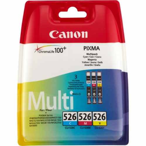 Canon CLI-526 C/M/Y Colour Ink Cartridge Multipack