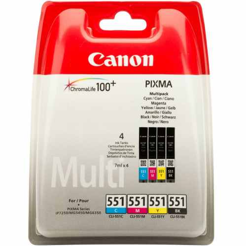 Canon CLI-551 BK/C/M/Y Ink Cartridge Multipack