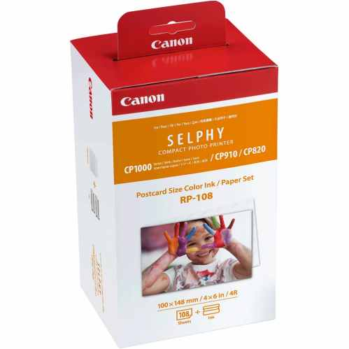 Canon Selphy RP-108 Ink/Paper Set- 108 6x4