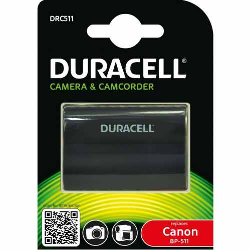 Duracell Canon BP-511 Battery - Fits many older EOS & PowerShot G models