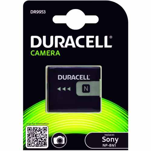 Duracell Sony NP-BN1 Battery - Fits many Cybershot Cameras