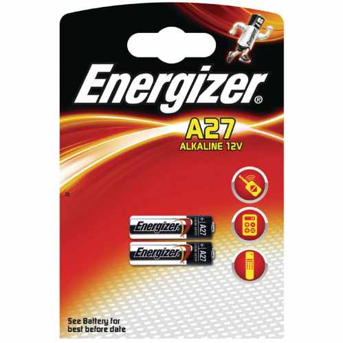 Energizer A27 12v Alkaline Battery (Twin Pack)
