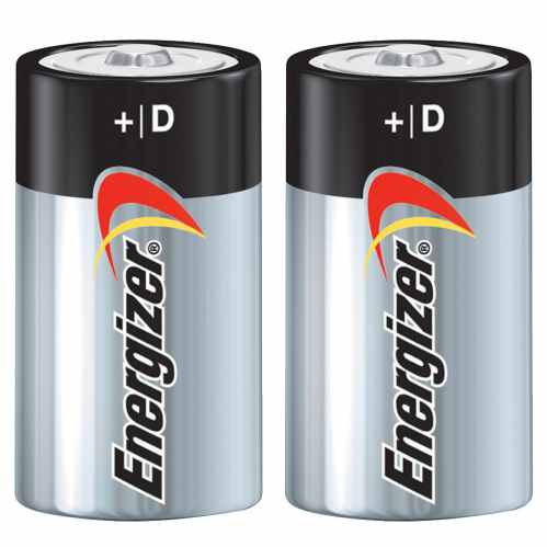 Energizer Max PowerSeal Batteries - D Cell (2pk)