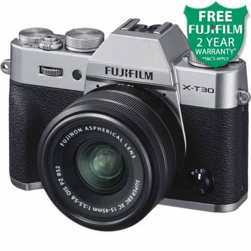 Fujifilm X-T30 + XC 15-45mm Mirrorless Digital Camera (Silver)
