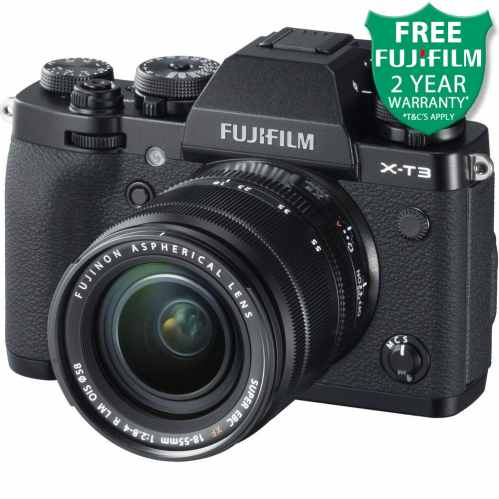Fujifilm X-T3 Mirrorless Camera with XF 18-55mm (Black)