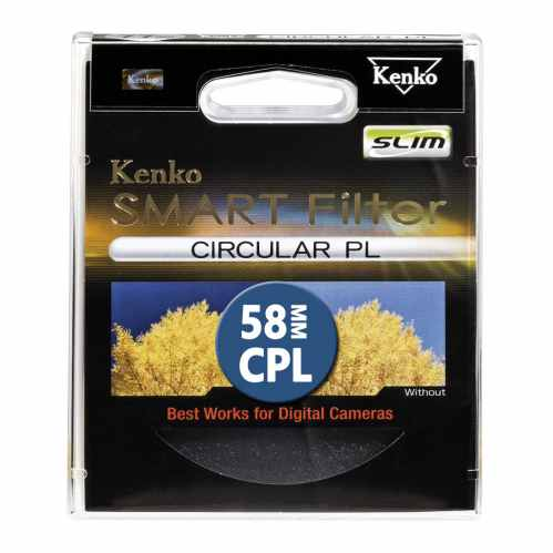 Kenko 58mm Smart Filter Circular Polarizing SLIM