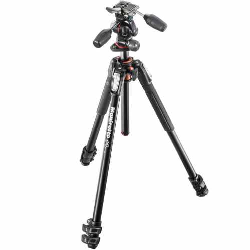 Manfrotto 190 3-section tripod + 3-way Head - MK190XPRO3-3W