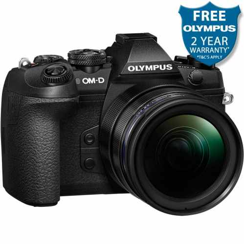 Olympus OM-D E-M1 MK2+12-40mm PRO Mirrorless Camera (Black)