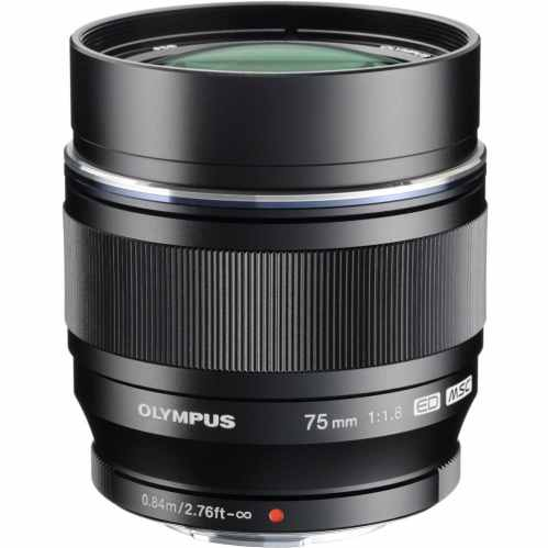 Olympus M.ZUIKO Digital ED 75mm f/1.8 (black) Prime Telephoto Lens