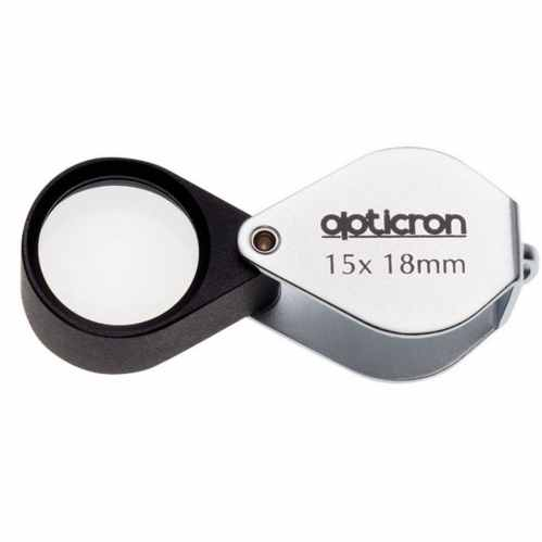 Opticron 18mm Folding Metal Loupe 15x Magnification