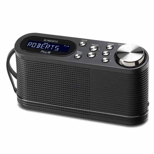 Roberts Play 10 Portable Digital DAB & FM Radio (Black)
