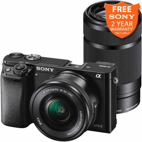 Sony Alpha a6000 Mirrorless Camera with 16-50mm & 55-210mm (Black)