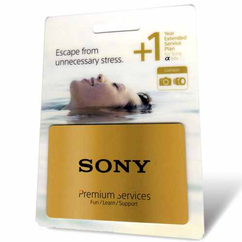 Sony +1 Year Warranty - (for Alpha Body with lens)