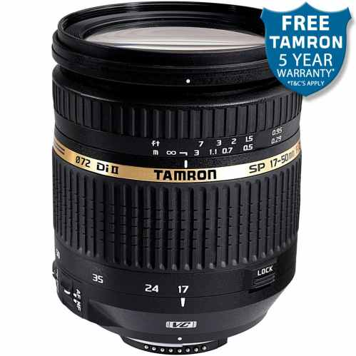 Tamron SP 17-50mm f2.8 Di II VC LD (B005) Fast Standard Lens - Canon EF-S