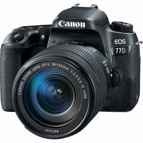 Canon EOS 77D DSLR with18-135mm IS USM