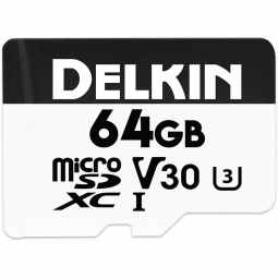 Delkin Devices Advantage 64gb UHS-I 660X microSD Memory Card