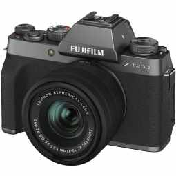 Fujifilm X-T200 + XC 15-45mm Mirrorless Camera | Dark Silver