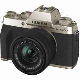 Fujifilm X-T200 + XC 15-45mm Mirrorless Camera | Champagne Gold