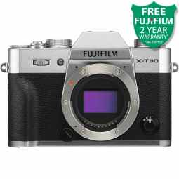 Fujifilm X-T30 Mirrorless Digital Camera Body (Silver)