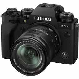 Fujifilm X-T4 + XF18-55mm f/2.8-4 Mirrorless Camera Body | Black