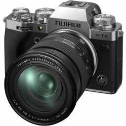 Fujifilm X-T4 + XF16-80mm f/4 R OIS WR Mirrorless Camera | Silver
