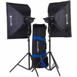 Interfit F121 Studio 2x 200w Flash Heads Kit | INT907