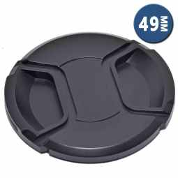 Lens Cap with Centre Grip and retaining cord | 49mm