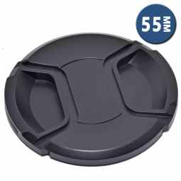 Lens Cap with Centre Grip and retaining cord | 55mm