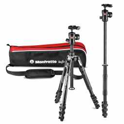 Manfrotto Befree 2N1 Tripod with Monopod | Lever Lock | MKBFRTA4B-BHM