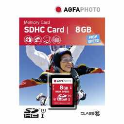 AGFA 8GB SDHC UHS-1 Class 10 - Memory Card