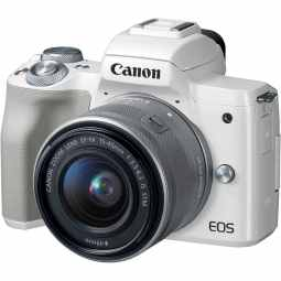 Canon EOS M50 + EF-M 15-45mm - Mirrorless Camera (White)