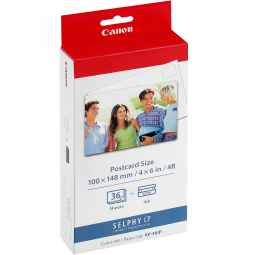 Canon Selphy KP-36IN Ink/Paper Set Postcard Size - 36 Prints (for SELPHY CP Models)