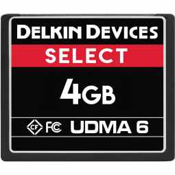 Delkin 4GB CF 500X UDMA 6 Memory Card (Made in USA)