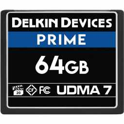Delkin PRIME 64GB CF 1050X UDMA 7 Memory Card (Made in USA)