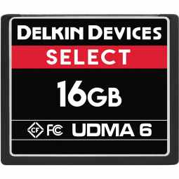 Delkin SELECT 16GB CF 500X UDMA 6 Memory Card (Made in USA)