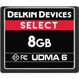 Delkin SELECT 8GB CF 500X UDMA 6 Memory Card (Made in USA)