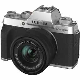 Fujifilm X-T200 + XC 15-45mm Mirrorless Camera | Silver