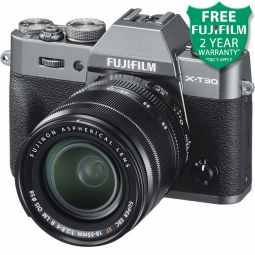 Fujifilm X-T30 + XF 18-55mm Mirrorless Digital Camera (Charcoal Grey)