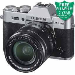 Fujifilm X-T30 + XF 18-55mm Mirrorless Digital Camera (Silver)