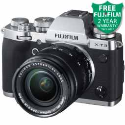 Fujifilm X-T3 Mirrorless Camera with XF 18-55mm (Silver)