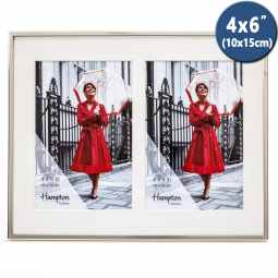 Mayfair Silver Plated Frame with Double 6x4