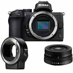 Nikon Z50 + DX 16-50mm + FTZ Adapter | 20.9MP DX  Mirrorless Camera