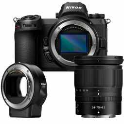 Nikon Z6 + 24-70mm F/4 S + FTZ Adapter - Full Frame Mirrorless Camera
