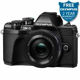 Olympus OM-D E-M10 MK3 Mirrorless Camera with 14-42mm EZ Pancake Lens (Black)