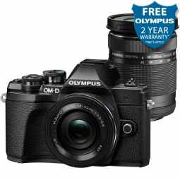 Olympus OM-D E-M10 MK3 with 14-42mm EZ Pancake & 40-150mm R Lenses (Black)