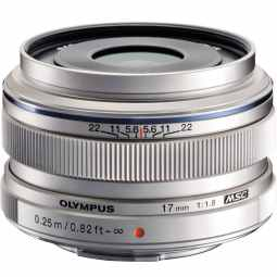 Olympus M.ZUIKO Digital 17mm f1.8 (silver) Wide-Angle Lens