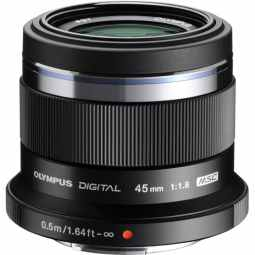 Olympus M.ZUIKO Digital 45mm f/1.8 (black) Portrait Lens